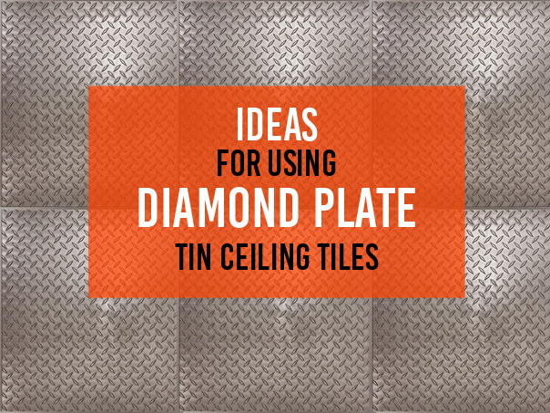 Image of a Diamond Plate Ceiling Tile