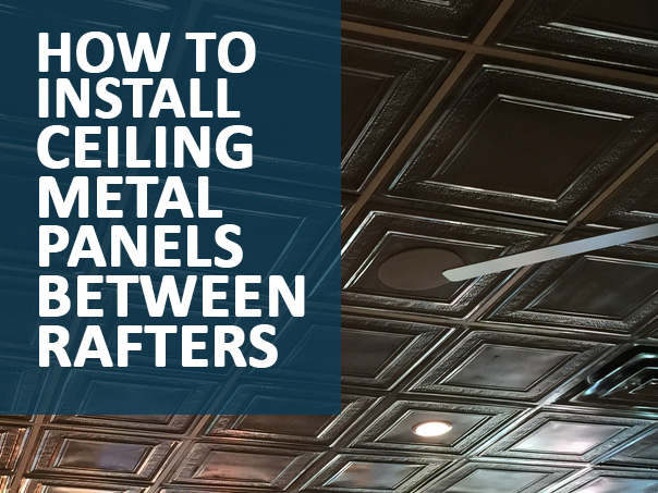 install metal ceiling panels