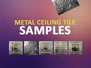 metal ceiling tile samples