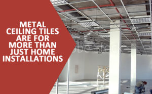 Installing Metal Ceiling Tiles Outside the Home