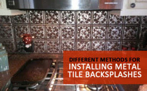 installing metal tile backsplashes