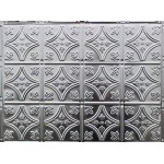 "#103B 18"" x 24"" Backsplash Tin/Metal Tile - Fleur De Lis 6 inch pattern"