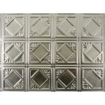 "#119B 18"" x 24"" Backsplash Tin/Metal Tile - Classic Mini Diamond"