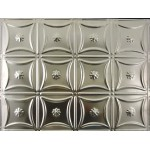 "#130B 18"" x 24"" Backsplash Tin/Metal Tile - Sixteen Flowers"