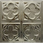 #134 Tin/Metal Ceiling Tile - Four Clover Leaf