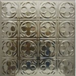 #135 Tin/Metal Ceiling Tile - Sixteen Mini Clover Leaf