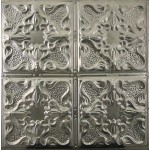 #105 Tin/Metal Ceiling Tile - Vintage Gothic Design