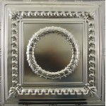 #107 Tin/Metal Ceiling Tile - Circular Heritage Wreath
