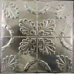 #108 Tin/Metal Ceiling Tile - Oak Leaf Pattern