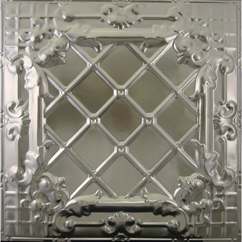 "#111 Tin/Metal Ceiling Tile - Medieval Cross Hatch (24"" x 24"") ($1.69 sq. ft.)"