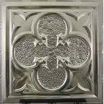 #112 Tin/Metal Ceiling Tile - Lucky Clover Design