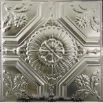 #123 Tin/Metal Ceiling Tile - Floral Centerpiece