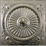 #126 Tin/Metal Ceiling Tile - Roman Medallion Design
