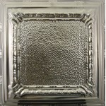 #128 Tin/Metal Ceiling Tile - Peened Frame