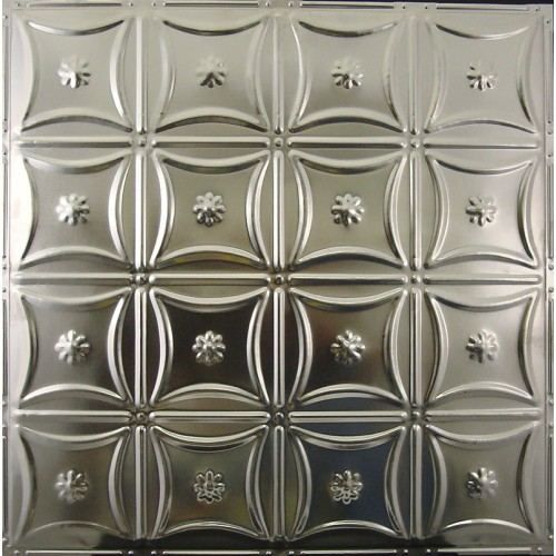"#130 Tin/Metal Ceiling Tile - Sixteen Flowers (24"" x 24"") ($1.69 sq. ft.)"