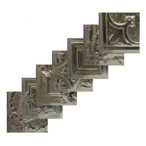 Non-Painted Sample, Tin ceiling tiles,  approximate size: 1/4 of a Full Tile ----  (Free shipping!)