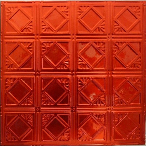 Translucent Red Color Tin Metal Ceiling Tile