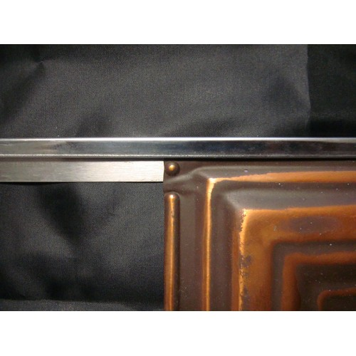 Stainless Edging (Color matched to your backsplash tiles)